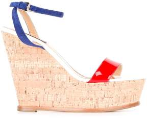 DSQUARED2 crisscross strap wedge sandals