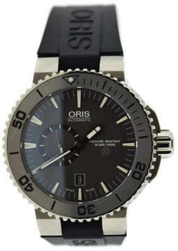 Oris Aquis Titan 7664 Titanium & Rubber Automatic 46mm Mens Watch