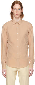 Lemaire Beige Straight Collar Shirt