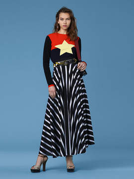 Diane von Furstenberg High-Waisted Draped Maxi Skirt