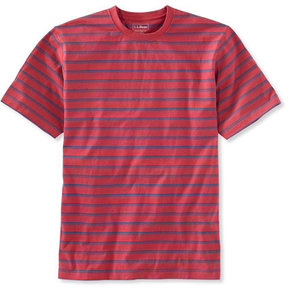 L.L. Bean Carefree Unshrinkable Tee, Traditional Fit Short-Sleeve Stripe