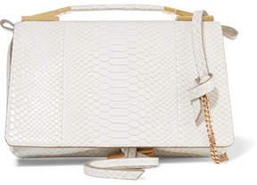 Stella McCartney Flo Python-effect Faux Leather Shoulder Bag - Ivory