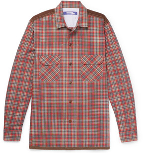 Junya Watanabe Patchwork Checked Cotton-Flannel Shirt