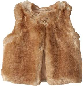 Chloé Kids Sleeveless Faux Fur Vest Girl's Vest