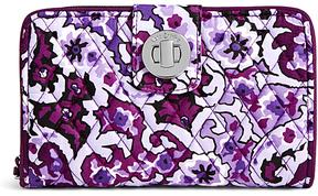 Vera Bradley Lilac Paisley RFID Turn-Lock Wallet - LILAC - STYLE