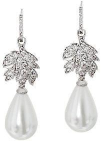 Elizabeth Taylor The La Peregrina Simulated Pearl Drop Earrings