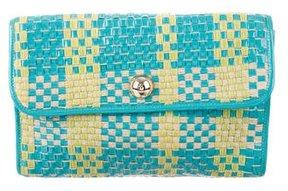 Kate Spade Woven Envelope Clutch - BLUE - STYLE