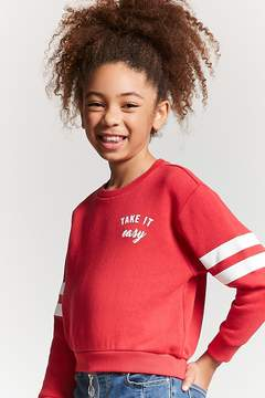Forever 21 Girls Take It Easy Graphic Pullover (Kids)