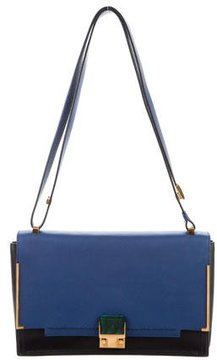 Lanvin Bicolor Leather Flap Bag
