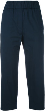 Alberto Biani stretch-waist cropped trousers
