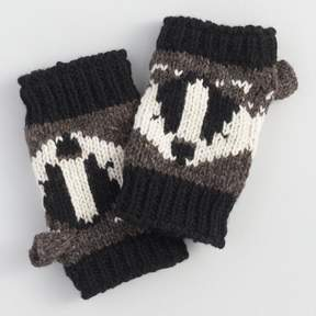 World Market Black and Charcoal Wool Badger Convertible Gloves