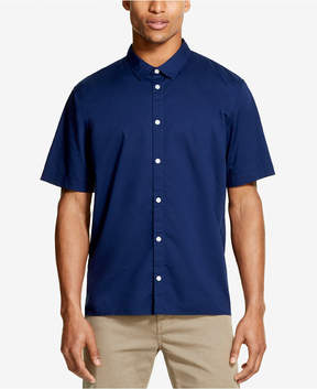 DKNY Men's Solid Blue Woven Shirt, Created for Macy's