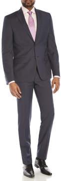 DKNY Blue Tonal Microcheck Suit