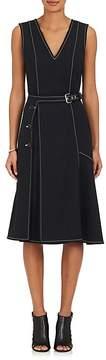 Derek Lam Women's Cotton-Blend Ponte A-Line Belted Dress