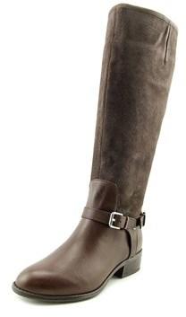 Lauren Ralph Lauren Marion Wide Calf Women Round Toe Suede Brown Knee High Boot.