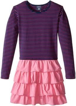 Toobydoo Sasha Ruffle Pink Dress (Toddler/Little Kids/Big Kids)