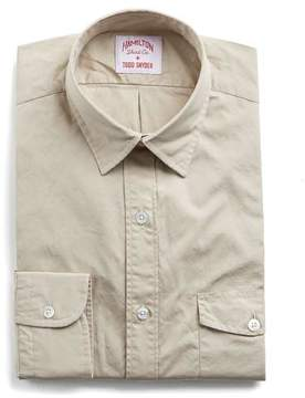 Hamilton Tan Solid Poplin Camp Shirt