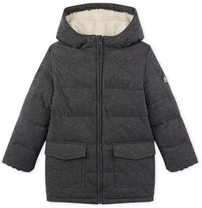 Petit Bateau Boy's padded jacket in water-resistant flannel