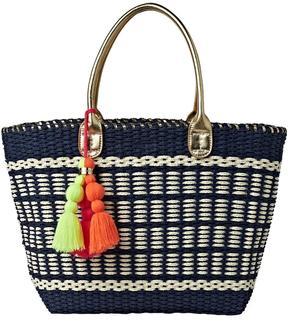 Lilly Pulitzer Coastal Straw Tote Bag