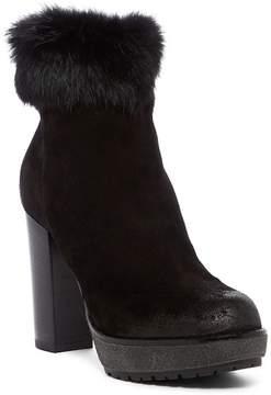 Manas Design Genuine Rabbit Fur Ankle Bootie