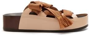 Chloé Harper lace-up patent-leather platform slides