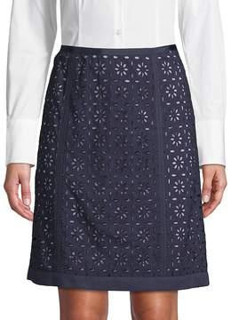 Robert Graham Women's Caterina Eyelet Cotton Skirt