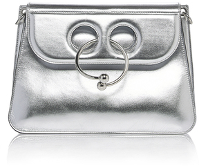 JW Anderson Pierce Medium Metallic Leather Bag