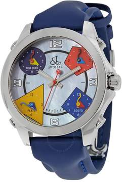 Jacob & co Five Time Zone Mother of Pearl Dial Men's Watch