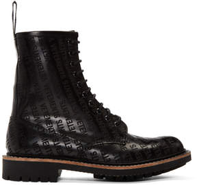 Vetements Black Churchs Edition Logo Ankle Boots