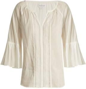 Velvet by Graham & Spencer Celina Summer bell-cuff cotton top