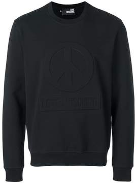 Love Moschino slim-fit embossed sweatshirt