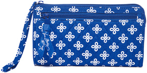 Vera Bradley Royal & White Mini Concerto Front-Zip Wristlet - ROYAL - STYLE
