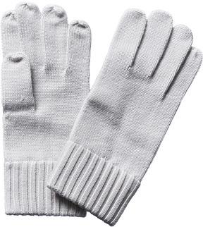 Portolano Men's White Wool Gloves