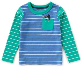 Joules Little Boys 1-6 Striped Colorblock Wolf Shirt