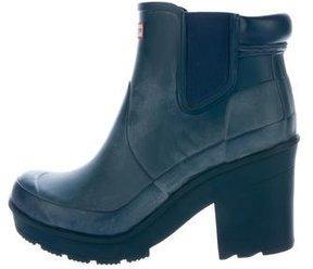 Hunter Rubber Platform Rain Boots