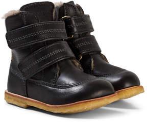 Bisgaard Black Velcro Boots