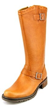 Sebago Saranac Buckle Women Round Toe Leather Brown Mid Calf Boot.