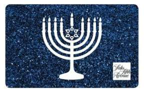 Saks Fifth Avenue Hanukkah Blue Gift Card