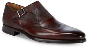 Saks Fifth Avenue by Magnanni Men's Monk Strap Wingtip Leather Oxfords