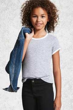 Forever 21 Girls Heathered Ringer Tee (Kids)