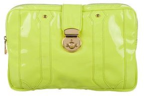 Rebecca Minkoff Patent Leather Clutch - YELLOW - STYLE