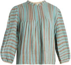 Ace&Jig Mallorca bell-sleeved cotton-gauze top