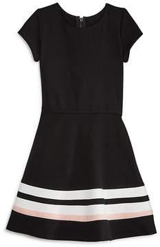 Aqua Girls' Solid & Stripe Dress, Big Kid - 100% Exclusive