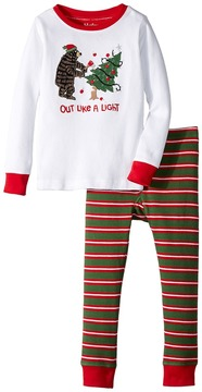 Hatley Out Like a Light Waffle PJ Set Boy's Pajama Sets