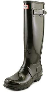 Hunter Tall Glossy Round Toe Synthetic Rain Boot.