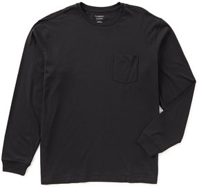 Roundtree & Yorke Big and Tall Soft Washed Long-Sleeve Solid Pocket Crew Tee