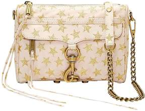 Rebecca Minkoff Women's Mini Mac Stars Leather Crossbody Bag - GOLD - STYLE