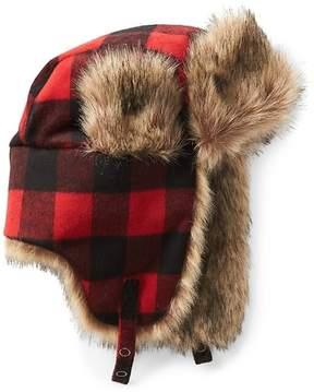 Gap Wool plaid trapper hat