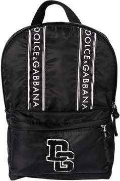 Dolce & Gabbana Logo Patches Nylon Backpack