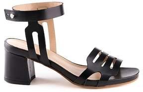 Formentini Perla Giada Leather Block Heel Sandal